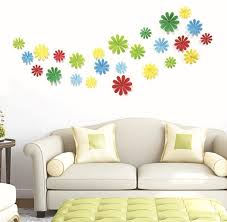 12pcs lot creative 3d pvc flowers snowflake wall stickers acrylic wall decals tv wall