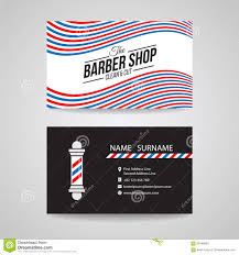 barbershop business cards business card barber shop and barber pole vector design stock