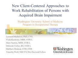 New Client-Centered Approaches To Work Rehabilitation Of Persons ...