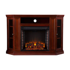com southern enterprises claremont convertible a electric fireplace 48 wide cherry finish kitchen dining