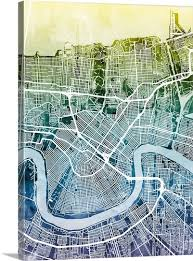 new orleans street map on new orleans map wall art with new orleans street map wall art canvas prints framed prints wall