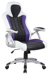 Computer Desk And Chair Purple White Black Racing Office Chair Furniturebox