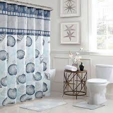 blue and cream shower curtain. island blue and cream shower curtain