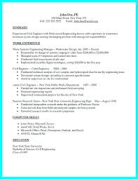 Mechanical Engineering Resume Template Fascinating Sample Civil Engineering Resume Simple Resume Examples For Jobs
