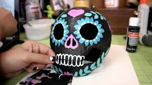 Paper Mache Decorating Watch Me Make Decorating Paper Mache Halloween Things Youtube