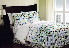 minecraft pixels comforter set teen bedding geometric white black