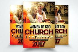 Revival Flyer Template Free Unique Woman Faith Church Flyers ...