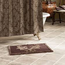 elegant brown memory foam toilet rug with 3 piece bathroom rug set and stunning brown curtain