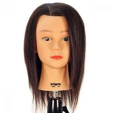 image 1 bridgette 17 100 human hair brown cosmetology mannequin head by celebrity