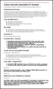 security specialist resume