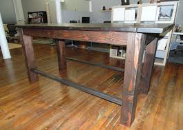 Industrial Pub Table Sets Custom Reclaimed Wood Farmhouse Industrial Pub Height Table By