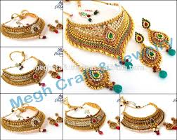 stani bridal jewellery one gram gold plated bridal necklace set indian ethnic jewellery wedding wear jewelry whole