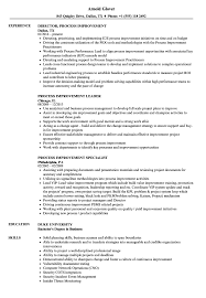 Process Improvement Resume Examples Process Improvement Resume Samples Velvet Jobs 2