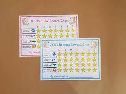 Bedtime Reward Chart Bedtime Routine Reward Chart Childrens Personalised Reward Chart Reusable Kids Toddlers Eyfs Night Time Bedtime Behaviour