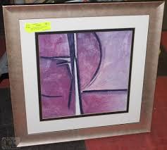 FRAMED ABSTRACT SIGNED BY ARTIST JOY ALDRIDGE