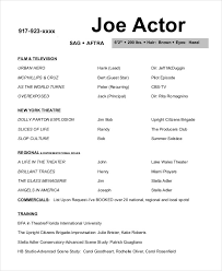 Acting Resume Examples Resume Template Ideas