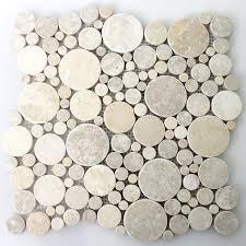 Circle Tiles Natural Stone Mosaic Tiles Limestone Round Pl78334