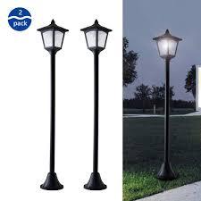 Lamp Post Lights Amazon 42 Inches Mini Street Post Outdoor Garden Solar Lamp Post Light Lawn Adjustable 2 Pack