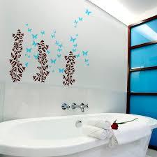 bathroom wall decor purple
