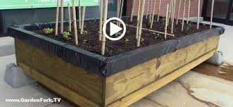 elevated garden bed plans. Raised Bed Garden Plans For A Self Contained : GF Video - DIY Living GardenFork.TV Elevated I