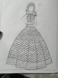 Sketches Of Fashion Dresses At Paintingvalleycom Explore