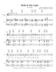 In The Light Sheet Music Walk In The Light By Charles E Davis 2 Part Choir Duet