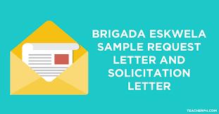 Brigada Eskwela Sample Request Letter And Solicitation Letter