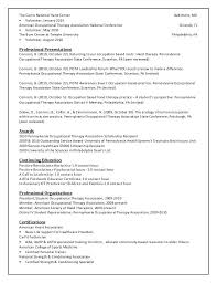 Occupational Therapy Resume Template resume Massage Therapist Resume Template 76