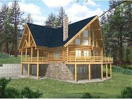 full size of rustic mountain home plans with walkout basement house cabin loft lake plan and