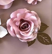 Paper Flower Video Rose Bud Paper Flower Video Tutorial Template Paper Flower Pattern Diy Paper Flower Paper Flower Backdrop Cricut Cameo Svg Paper Flower