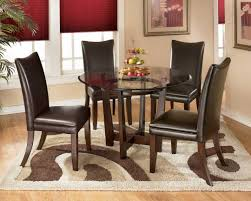 area dining room alluring patterned square rug for with astonishing mini black leather chairs glass top round
