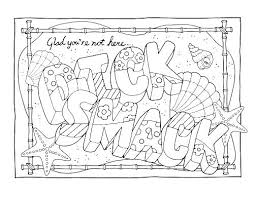 Free Printable Curse Word Coloring Pages Adult Swear Pdf M