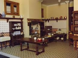 Victorian Kitchen Late Victorian English Manor Dollhouse 1 12 Miniature From