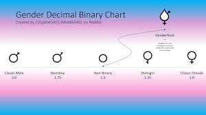 Different Genders Chart Gender Decimal Binary Chart I Made This In