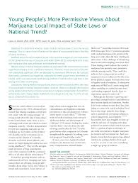young people s more permissive views about marijuana local impact young people s more permissive views about marijuana local impact of state laws or national trend pdf available