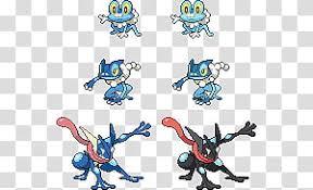 Pokemon Froakie Evolution Chart Froakie Frogadier Greninja Sprites Character Evolution