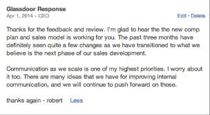 5 ceo responses on glassdoor worth