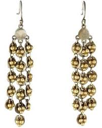 incredible owned at a me me two tone fringe disc chandelier earrings black and gold fringe