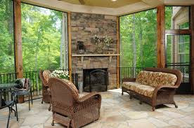 simple covered patio ideas. This Lovely Covered Patio Is Also A Three-season Room With Removable Glass.  The Simple Ideas N
