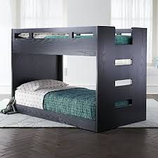crate and barrel bunk beds.  Beds Abridged Charcoal Glaze Low Twin Bunk Bed And Crate Barrel Beds O