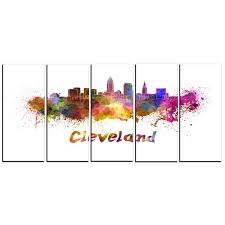 shop designart cleveland skyline cityscape metal wall art on sale free shipping today overstock 12101082 on cleveland metal wall art with shop designart cleveland skyline cityscape metal wall art on