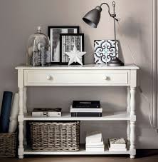 white console table with drawer. Nottingham Console Table With Storage In White Contemporary Monochrome Styling Drawer E