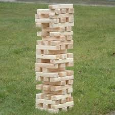 Yard Game With Wooden Blocks NEW Platinum Giant Jumbo Sized Jenga Wooden Blocks Outdoor Board 2