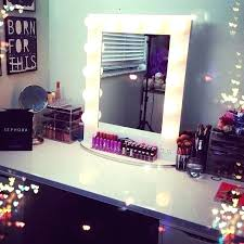 makeup table light lighted mirror vanity dorm ideas room bedroom makeup rooms vanity makeup table with