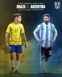 Brazil vs. Argentina. #CopaAmerica semi ...