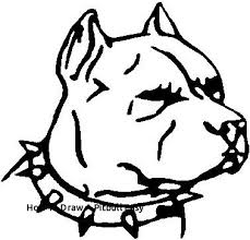 pitbull dog face drawing. Delighful Drawing How To Draw A Pitbull Easy 28 Collection Of Dog Face Drawing  Inside