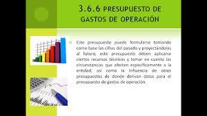 3 6 6 Presupuesto De Gastos De Operacion Instrumentos De