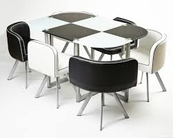 round space saver table round space saving white dining table and chair set table setting