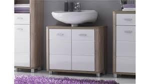 Waschbeckenunterschrank Vital Sonoma Eiche Und Weiß Badezimmer Regal