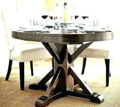 modern pedestal table wood base round kitchen dining coffee room contempor